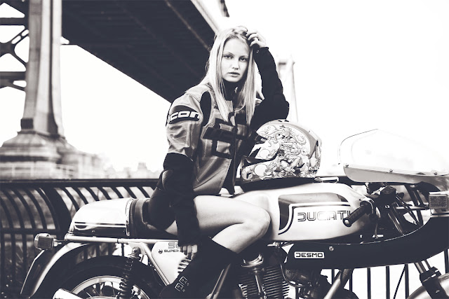 cafe-racer-babe-ducati-bridge