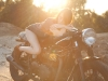 cafe-racer-babe-sunset